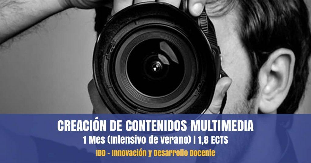 curso creación contenidos multimedia